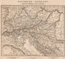 CENT. EUROPE: Southern Germany. Parts Hungary Turkey Italy. ARROWSMITH;1828 map